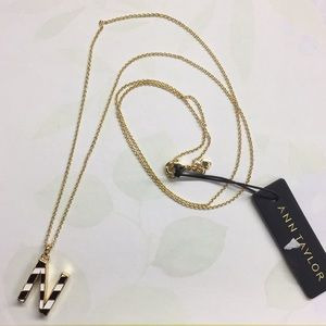 Ann Taylor Initial 'N' Necklace